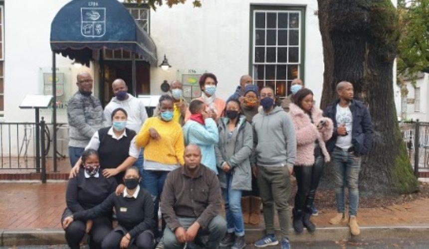 Farmers during their recent training week in Stellenbosch